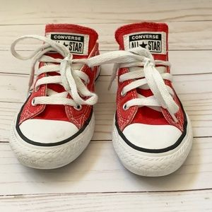 Red Converse Toddler Size 11.5